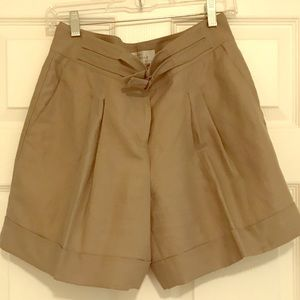 The Limited High waisted pleated linen shorts